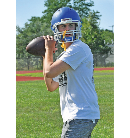 Riverhead's Tristan Falisi passed for 563 yards and eight touchdowns last year. (Credit: Robert O'Rourk, file)