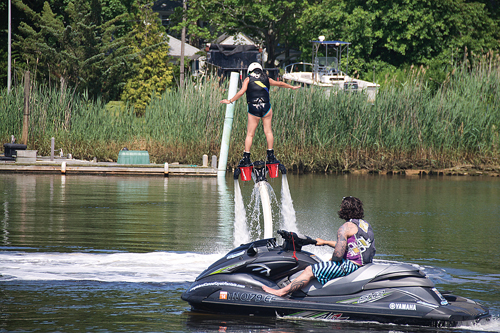 Lawmakers are trying to grapple with the legal issues surrounding flyboarding and other similar water sports. (Credit: Paul Squire)