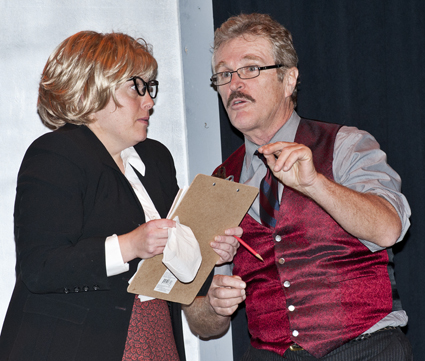 Laura Nitti as Roz Keith and James Zay as Franklin Hart Jr.