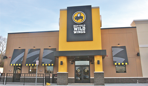 BARBARAELLEN KOCH PHOTO | Buffalo Wild Wings will open next Friday or Saturday, store manager Andrew Schuett said Thursday.