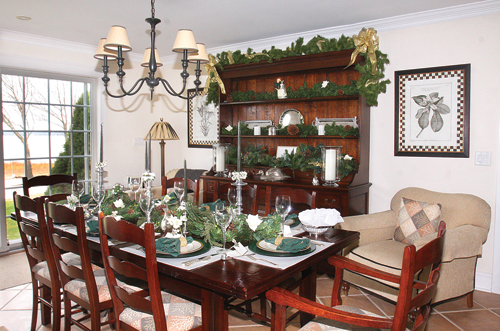 The dining room table set for the holiday dinner at Jack and Patricia Orben's Aquebogue home. (Credit: Barbaraellen Koch, file)