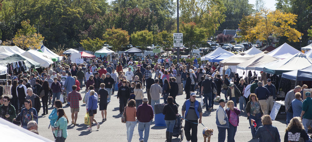 The view of the Riverhead Country Fair two weeks ago. (Credit: Katharine Schroeder)