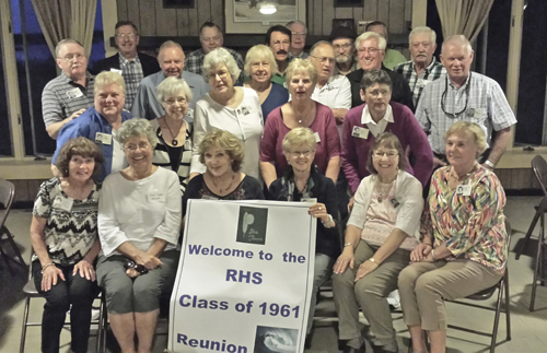The Riverhead High School Class of 1961 at its 55-year reunion. (Courtesy photo)