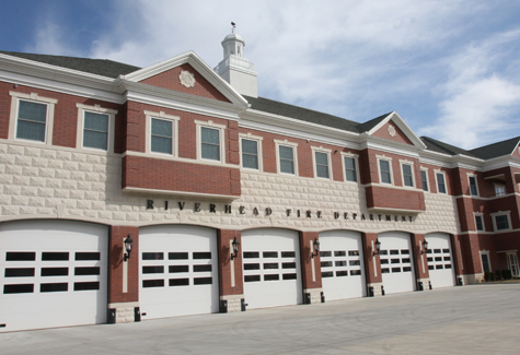 Riverhead fire headquarters on Roanoke Avenue. (Credit: file photo)