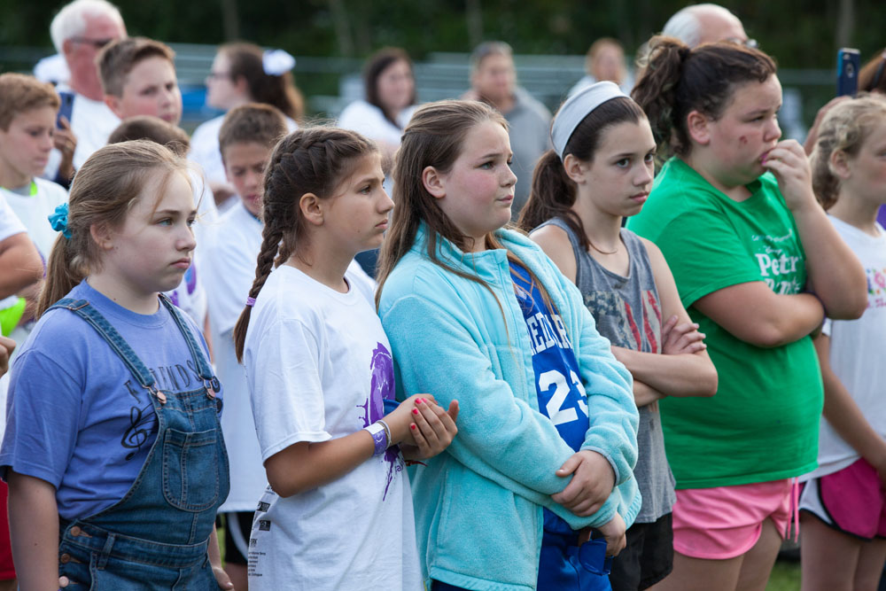 A group of young girls watches the presentation. (Credit: Katharine Schroeder)