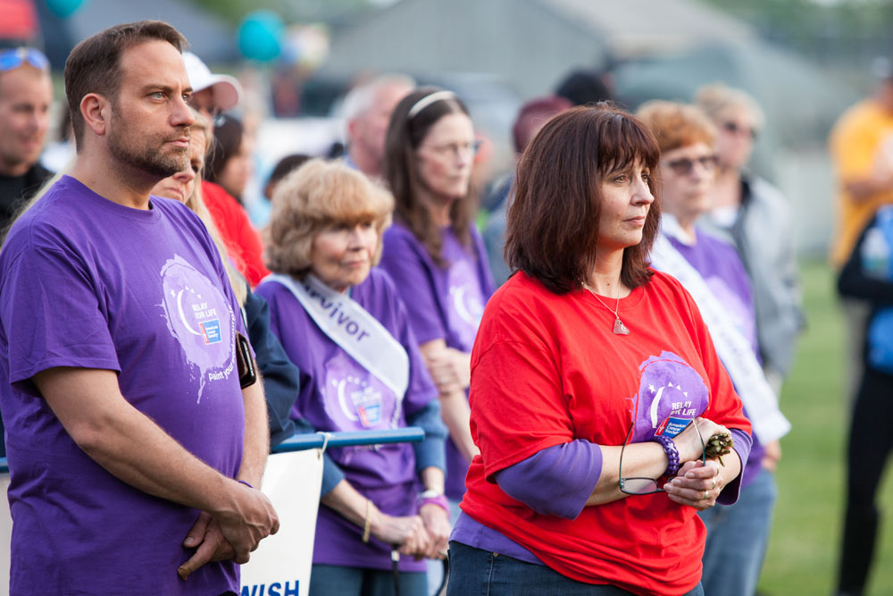 Relay for Life volunteers. (Credit: Katharine Schroeder)