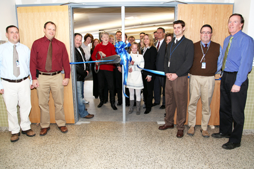 The ribbon-cutting ceremony.