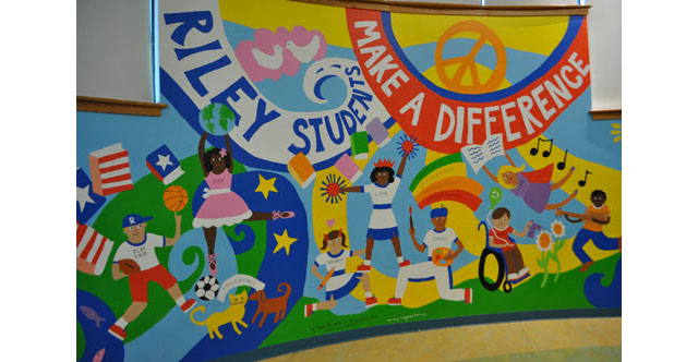 File photo: This anti-bullying mural was unveiled in May at Riley Avenue Elementary School. (Credit: Rachel Young)