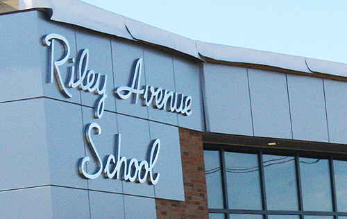 Riley Avenue Elementary School in Calverton. (Credit: File)