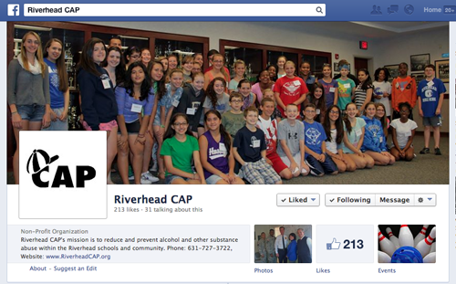 An image of Riverhead CAP's Facebook page. (Screen shot captured by Jennifer Gustavson)