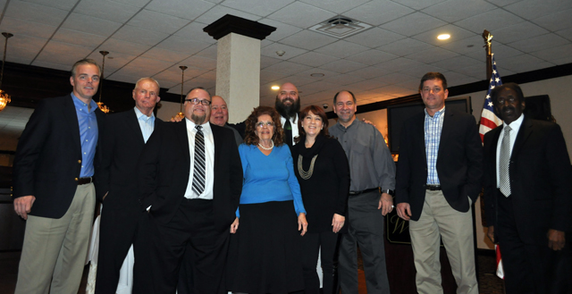 The recipients of the 2014 Riverhead Chamber of Commerce awards. (Credit: Joseph Pinciaro)