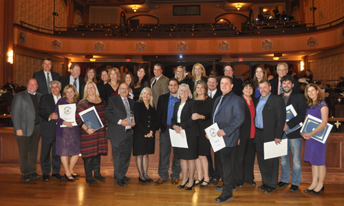 PAUL SQUIRE PHOTO | The winners of the 2013 Riverhead Chamber of Commerce People of the Year awards.