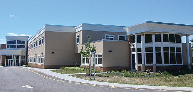The new 50,000 square-foot Riverhead Charter School building on Route 25 in Calverton.