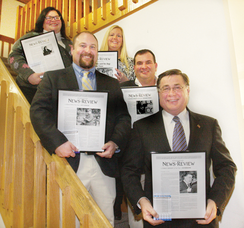 BARBARAELLEN KOCH PHOTO | The Riverhead News-Review People of the Year (clockwise from top): Civic person Georgete Keller, Educator Jeff Doroski, Overall POY Denise Lucas, Business person Rich Stabile and Public servant Ed Romaine.