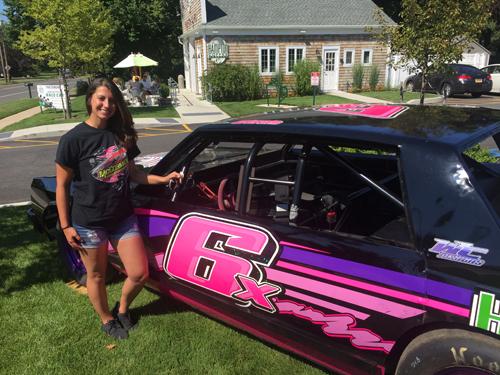Riverhead Raceway driver Cassandra Denis 080916