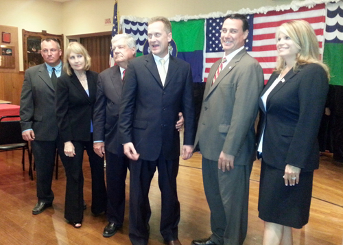 JENNIFER GUSTAVSON PHOTO | Riverhead Republican nominees, from left,