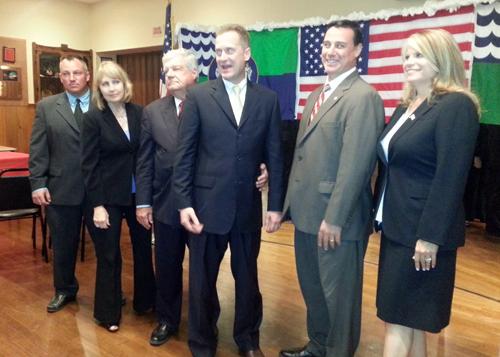 JENNIFER GUSTAVSON PHOTO | Riverhead Republican nominees, from left,