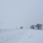 Road in Northville were almost impassable thanks to windswept snow. (Credit: Paul Squire)