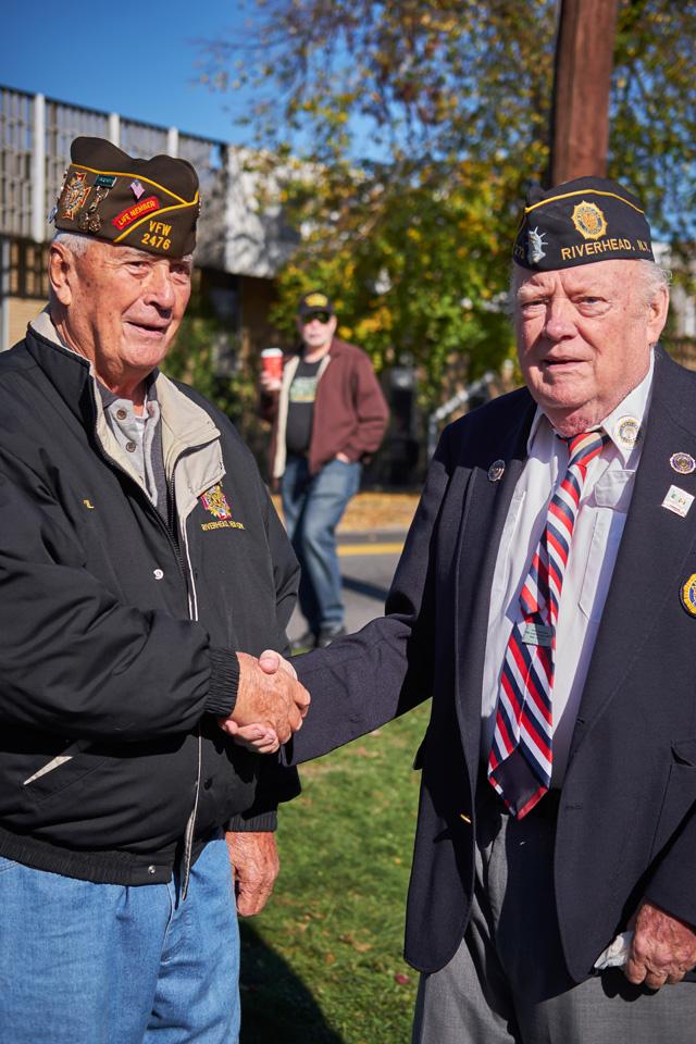 Past Commanders Fran Davis and Larry Judd.