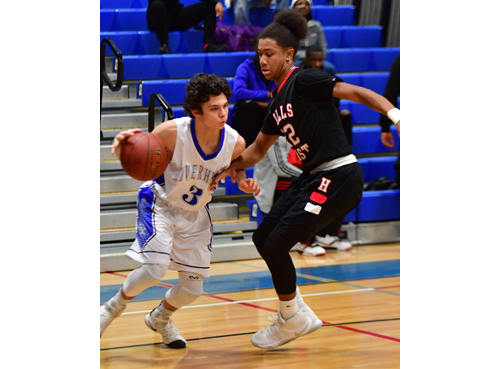 Riverhead basketball player Christian Pace 122016