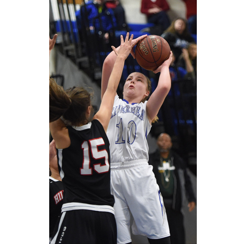 Riverhead basketball player Kate McCarney 021216