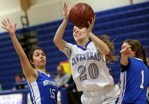 Riverhead basketball player Mary Reiter 012616