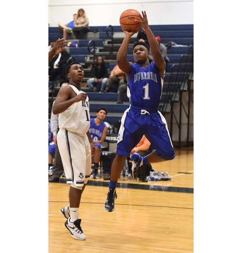 Riverhead boys basketball player Sharron Trent 121715