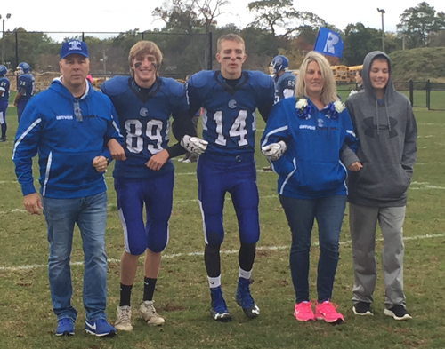 Riverhead football players Adam and Kyle Harnig 102516