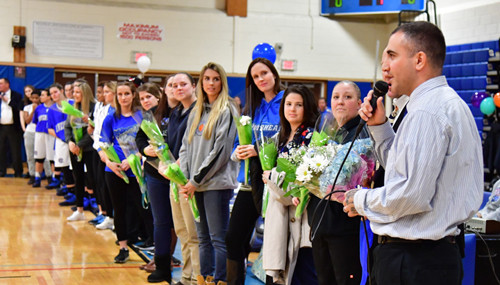 Riverhead girls basketball coach Dave Spinella 020817