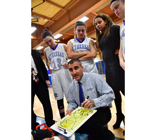 Riverhead girls basketball coach Dave Spinella 021317