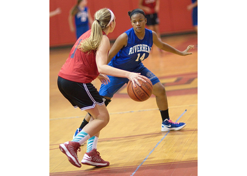 GARRET MEADE PHOTO | Kim Ligon is a rarity on the Riverhead roster — a player with varsity experience from last season.