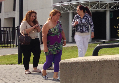 Ms. Garcia's family leaves court Thursday afternoon. (Credit: Paul Squire)