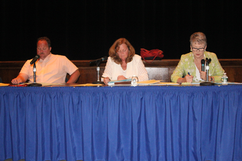 The Riverhead school board's regular meeting is Tuesday night in the high school auditorium. (File photo by Jennifer Gustavson)