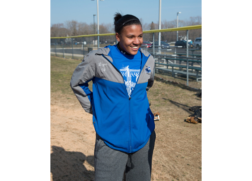 Riverhead softball player Kim Ligon 030916