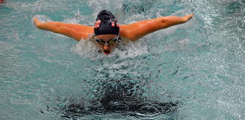 Riverhead swimmer Brianna Cybulski 110816