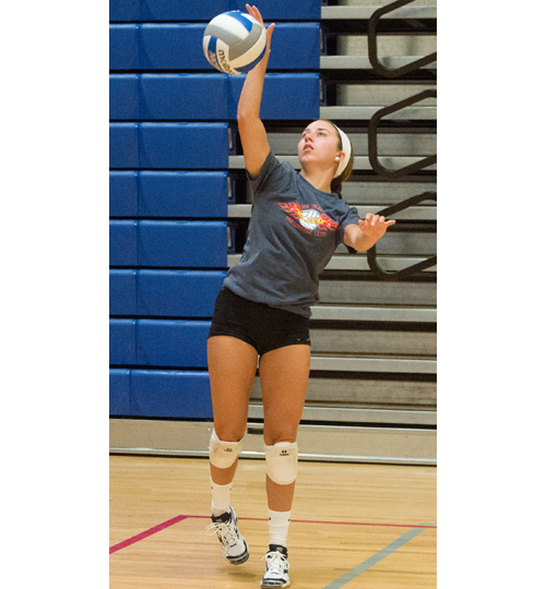 Joscelin Morrow, an all-county libero, is a big part of Riverhead's defense. (Credit: Robert O'Rourk)