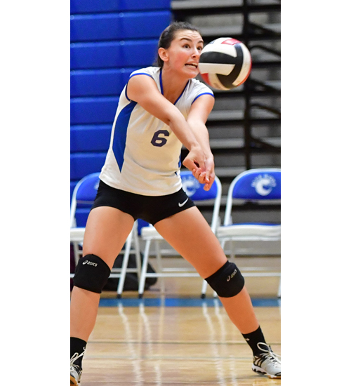 Riverhead volleyball player Melanie Vail 092216