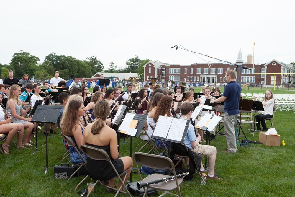 RHS Freshman and Senior Band led by Mr. Jason Rottkamp.