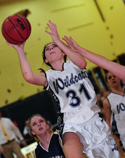 BILL LANDON PHOTO  |  Shoreham-Wading River sophomore Shannon Rosati scored a team-high 15 points Friday against Bayport-Blue Point.