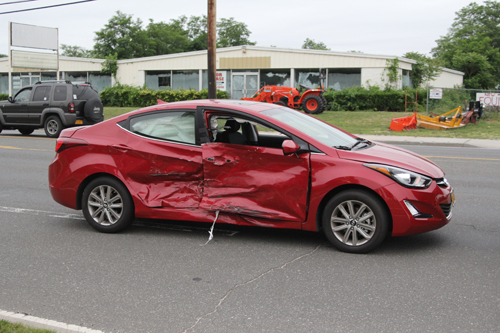 This car was involved in an accident Thursday on Route 58. (Credit: Jen Nuzzo)