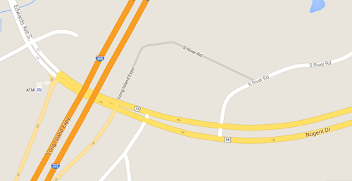 Police found the car near Route 94 and the LIE. (Credit: Google Map image)