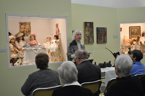Suffolk County Historical Society executive director Kathy Curran addresses participants Saturday at the annual meeting of the Association of Suffolk County Historical Societies in Riverhead. (Credit Rachel Young)
