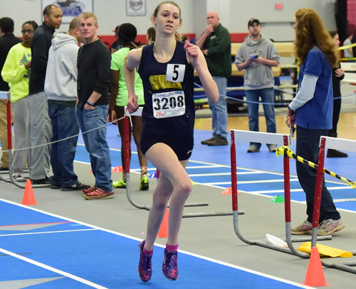 Shoreham-Wading River junior Kaitlyn Ohrtman, who has recovered from a breathing condition she had in 2013, will run the 1,500 meters in Saturday's state meet. (Credit: Robert O'Rourk, file)