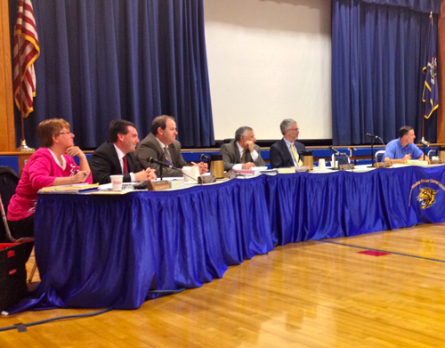 RACHEL YOUNG PHOTO | The Shoreham-Wading River school board at its Oct. 22 meeting.