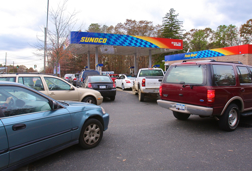 Sandy, Long Island, gas crisis, gouging, Hurricane