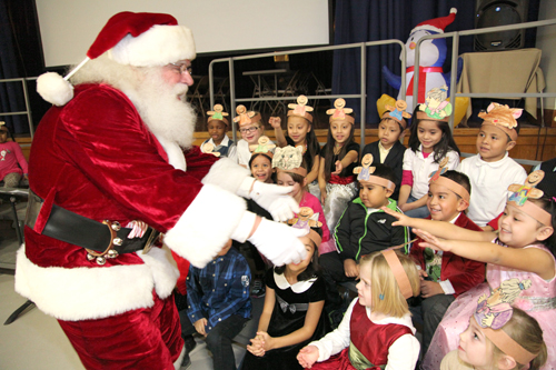 COURTESY PHOTO | Santa visited Phillips Avenue Elementary School students this week.