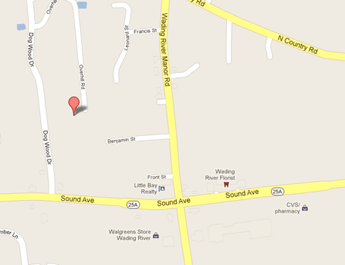 GOOGLE MAPS | Three men were arrested after a raid at 49 Overlook Drive Wednesday, police said.