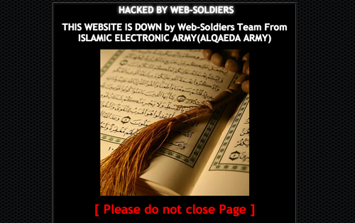 CACHE PHOTO | The animal hospital's website contained messages promoting Islam.