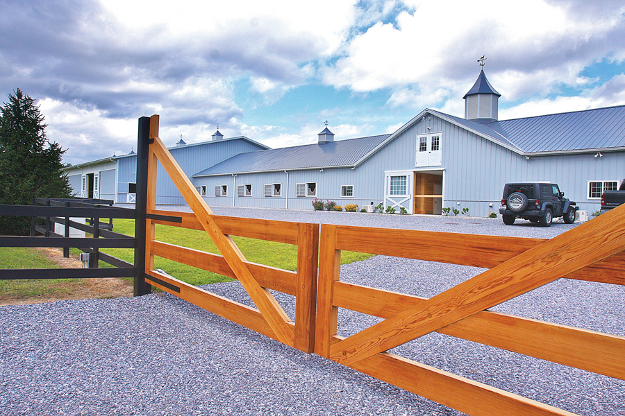 Serendipity Farm's horse barn was built in 2012 in Riverhead on Mill Road. (Credit: Barbaraellen Koch, file)
