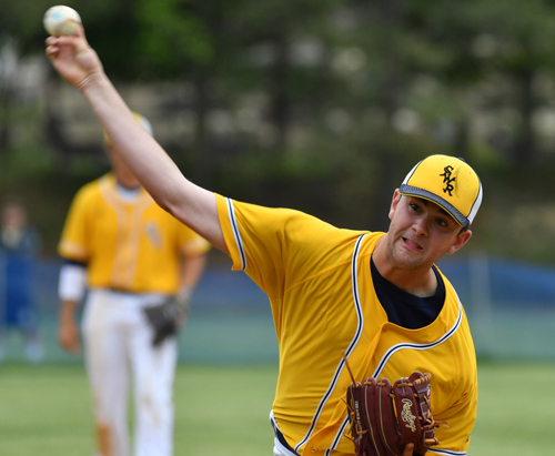 Shoreham-Wading River baseball player Zach White 052116